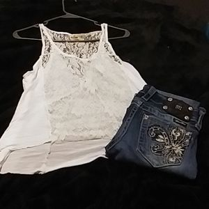 Hollister tank size medium and Miss me jeans 24